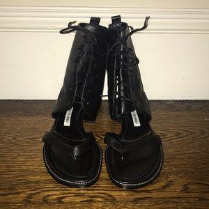 Manolo Blahnik 'Vestalpa' Lace-Up Sandals